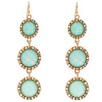 Talullah Tu Mint Crystal Drop Earrings