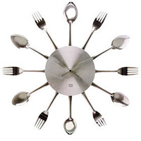 PLASTICLAND - Silverware Kitchen Wall Clock