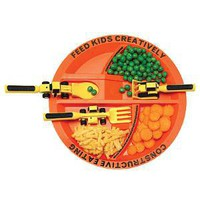 Construction Plate &amp; Utensils | Children&#x27;s Dishware, Kids Cutlery Set, Constructive Eating | UncommonGoods
