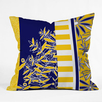 DENY Designs Home Accessories | Madart Inc. Blue And Yellow Florals Throw Pillow
