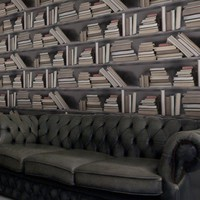 Bookshelf Wallpaper - Vintage Bookshelf Wallpaper from Studiomold | Made By Made in England | £70.00 | Bouf