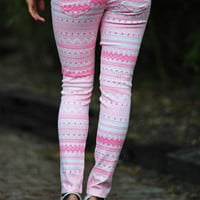 Tribal Tribal Tribal Jeans: Pink/White | Hope's