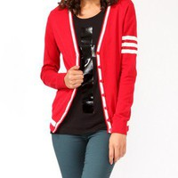 Striped Varsity Cardigan | FOREVER 21 - 2019571582