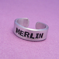 Merlin Inspired  Merlin  A Hand Stamped by chasingatstarlight