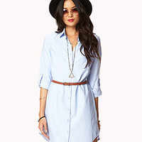 Essential Shirt Dress w/ Belt | FOREVER 21 - 2027704236