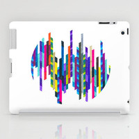 Colorful iPad Case - Crazy Lines D Circle - unique iPad case, geometric iPad case, hipster iPad case, iPad Case, iPad mini case