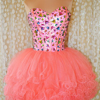 Charming Sweetheart Mini Pink Prom Dress/Homecoming Dress