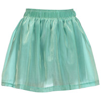 ROMWE | Dual-tone Green Pleated Skirt, The Latest Street Fashion
