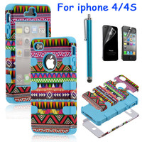 Totem Protective Case For Iphone 4/4s with pen and sticker (2)