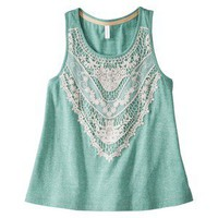 Xhilaration Juniors Crochet Trim Tank - Assorted Colors