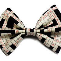 Crossword Puzzle Hair Bow