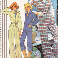 1970s Misses Jumpsuit Vintage Sewing Pattern, McCalls 5299  Bust 36&quot; 38&quot; 40&quot; uncut