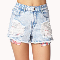 American Flag Pocket Cut Offs | FOREVER 21 - 2047080708