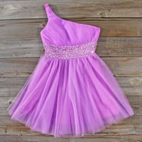 Icy Lavender Party Dress, Sweet Women's Party Dresses