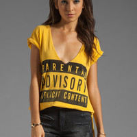 Local Celebrity Parental Advisory Tee in Gold from REVOLVEclothing.com