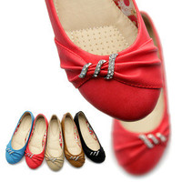 ollio Womens Ballet Flats Loafers Crystal Beads Comfort Cute Multi Colored Shoes