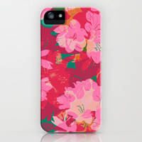 Azalea iPhone Case by Allison Holdridge