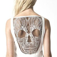 Skull Dress - Ivory - lolobu