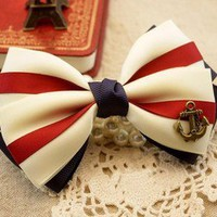 jullygo  [grdx02034]Nice Anchor Hair Bow for lady