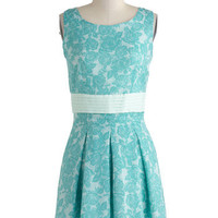 Poised in Turquoise Dress | Mod Retro Vintage Dresses | ModCloth.com