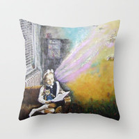 IMAGINATION Throw Pillow by Vargamari