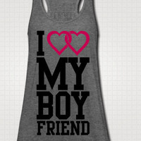 I Love My Boyfriend Tank Top - Free Shipping