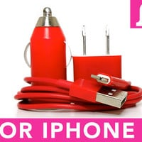 Red iPhone 5 Charger