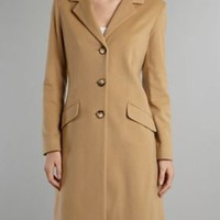 Cashmere wool blend coat
