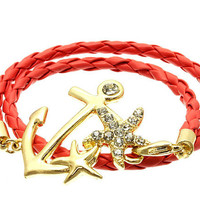 Fishermans Warf Anchor Wrap Around Bracelet