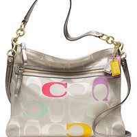 COACH POPPY EMBROIDERED SIGNATURE C PERRI HIPPIE - Coach Handbags - Handbags & Accessories - Macy's