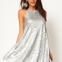 Starry Swing Dress in Teardrop Sequin