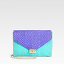 Loeffler Randall - Colorblock Fishskin Leather Shoulder Bag