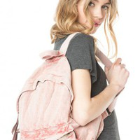 Brandy ♥ Melville |  John Galt Washed Fabric Backpack - Bags - Accessories