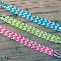 Double Chevron Friendship Bracelet by BrandiisBoutique on Etsy