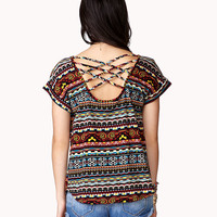 Multicolored Tribal Print Top | FOREVER21 - 2036983437