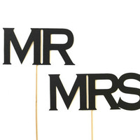 Photobooth Props. Wedding Photo Prop. Photo Booth Props. Mr. & Mrs.