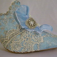 Marie Antoinette themed wedding shoes in by everlastinglifashion