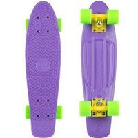 Amazon.com: Penny Complete Skateboard (Purple Deck/Yellow Trucks/Green Wheels, 22-Inch): Sports & Outdoors