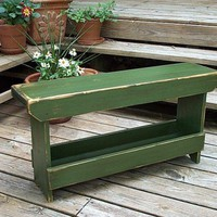 Boot Bench nice in narrow space | BuckCreekFurnishings - Furniture on ArtFire