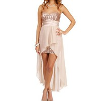 Tony-Taupe Prom Dress