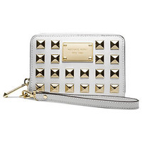 MICHAEL Michael Kors Handbag, Pyramid Stud Multi Function Phone Case - Wallets &amp; Wristlets - Handbags &amp; Accessories - Macy&#x27;s