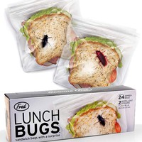 Lunch Bugs Supersized Creepy-Crawly Bug Sandwich Bags