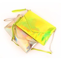 Iridescnet Envelope Clutch