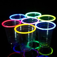 48 Glow Stick Party Cups (16-18 oz): Toys & Games