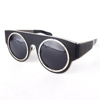 KTZ x LINDA FARROW Pleather Circle Frame Shades