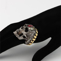 White Skull King Ring