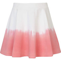 Girls white dip dye skater skirt - skirts / shorts - girls