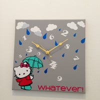Hello Kitty Whatever Clock
