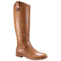 Women's Merona® Kasia Leather Riding Boot - Tan