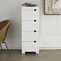 Square Cutout 4-Drawer Dresser - White